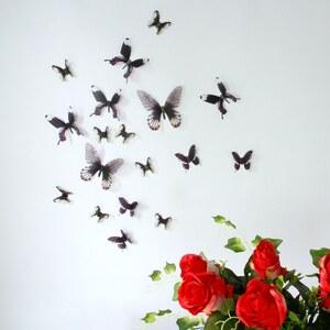 Walplus Streak Butterfly - Sticker - noir