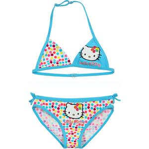 Hello Kitty Bikini türkis in Größe 104 für Mädchen aus 85% Polyamid 15% Elastan