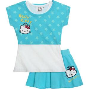 Hello Kitty T-Shirt und Rock türkis in Größe 104 für Mädchen aus Oberteil: 100% Baumwolle Rock: 95% Baumwolle 5% Elastan