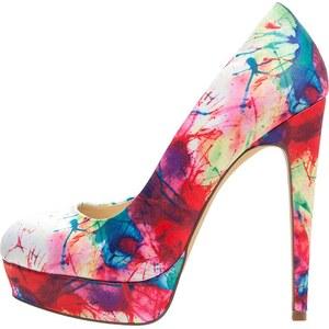 Even&Odd High Heel Pumps blue/pink