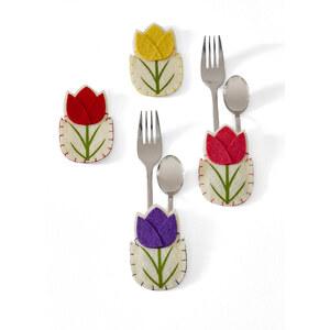 bpc living Étuis à couverts Tulipe (Ens. 4 pces.) jaune maison - bonprix