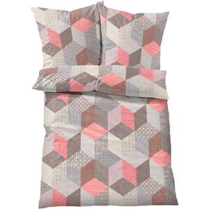 bpc living Linge de lit Cube, linon rouge maison - bonprix