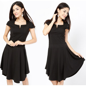 Lesara Kleid mit Faltenwurf - S
