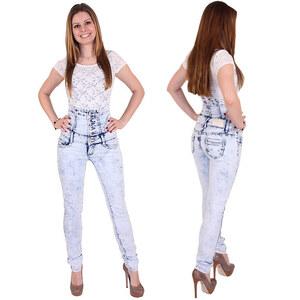 Lesara Jeans délavé taille haute