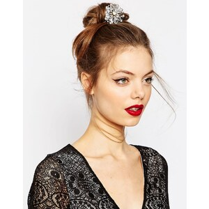 ASOS Haarspange mit filigranem Blumendesign - Silber