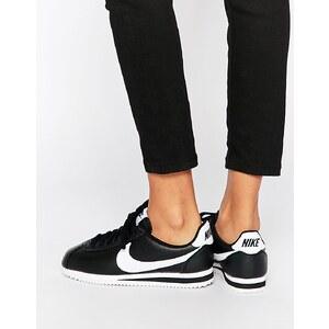 Nike - Cortez - Sneakers aus schwarzem Leder - Schwarz