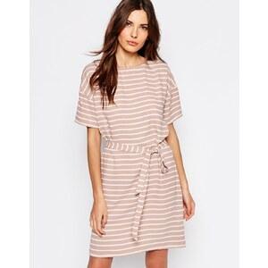 Selected - Rosie - Robe avec lien à la taille - Beige