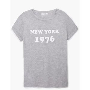 Mango T-shirt en coton imprimé