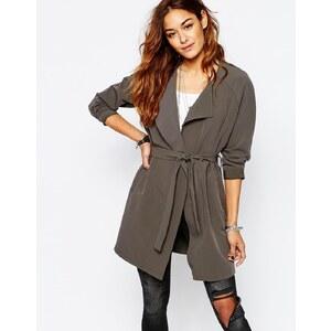 Noisy May - Trench-coat léger avec ceinture - Gris
