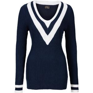 BODYFLIRT boutique Pull bleu manches longues femme - bonprix