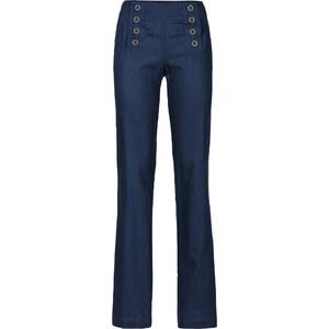 BODYFLIRT boutique Pantalon lin bleu femme - bonprix