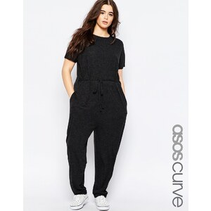 ASOS CURVE - T-Shirt-Overall mit Karottenhose - Anthrazit