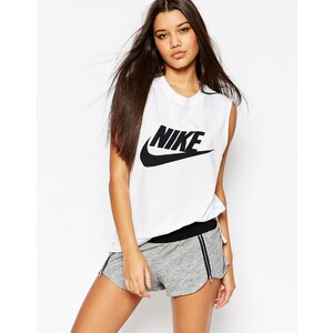Nike - Débardeur moulant à gros logo Signal - Blanc
