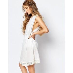 Navy London - Pinny - Sommerkleid mit tiefen Armlöchern - Weiß