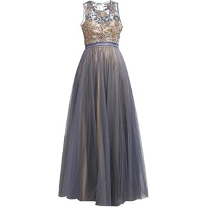 Luxuar Fashion Ballkleid grau/nude
