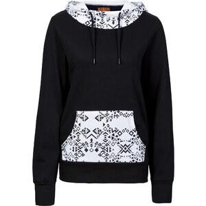 RAINBOW Sweatshirt langarm in schwarz (Rundhals) für Damen von bonprix