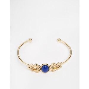 ASOS - Bracelet avec pierre et ornements travaillés - Doré