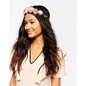 ASOS - Stirnband mit rosigen Blumen - Rosa