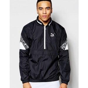 Puma - Trinomic - Jacke mit halbem Reißverschluss - Schwarz