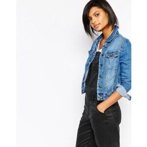 Vero Moda - Veste en jean à délavage moyen - Bleu