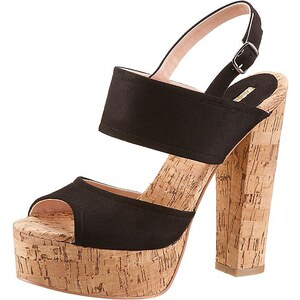 Buffalo High Heel Sandalette in Kork-Optik