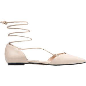 MANGO Flache, Spitze Schuhe