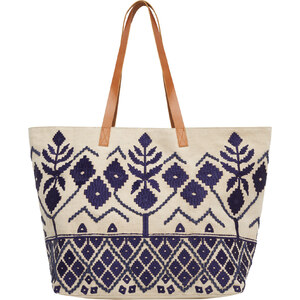 Violeta BY MANGO Shopper-Bag Mit Stickereien