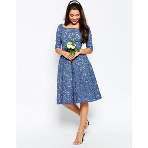 ASOS WEDDING - Ballkleid mit Spitze - Blau