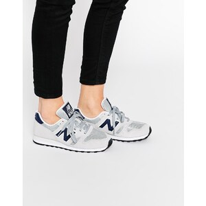 New Balance - Wildleder-Sneakers, Nude 7, Marineblau 373