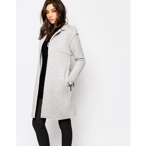 Noisy May - Trenchcoat aus Sweatshirtstoff - Grau