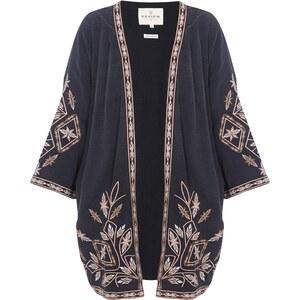 REVIEW Kimono mit Stickereien und Zierborten