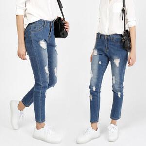 Lesara Jeans slim effet usé et longueur cheville