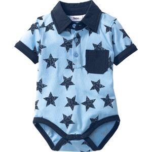 bpc bonprix collection Body-chemise bébé en coton bio, T. 56/62-92/98 bleu enfant - bonprix