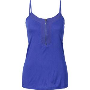 BODYFLIRT Top mit Reißverschluss in blau für Damen von bonprix
