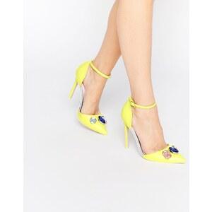 ASOS - PRIZE - Chaussures à talons ornementées - Jaune