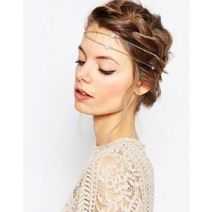 ASOS - Haarklammer mit Kette und Blumenmotiv zum Umwickeln - Gold