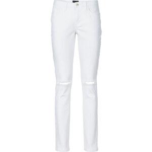 BODYFLIRT Jean genoux fendus blanc femme - bonprix