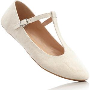 bpc bonprix collection Ballerines à bride en T beige chaussures & accessoires - bonprix
