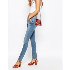 ASOS - Lisbon - Skinny Jeans mit mittelhohem Bund, Clover-Waschung - Blau
