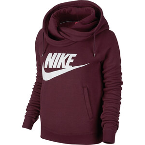 Nike Rally Funnel Neck W Hoodie maroon/white