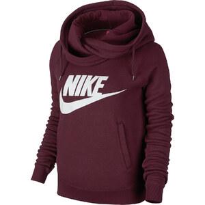 Nike Rally Funnel Neck W Hoodie maroon/white