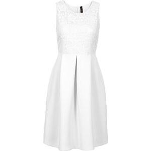BODYFLIRT boutique Kleid in Scubaoptik in weiß von bonprix