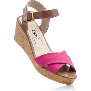 bpc bonprix collection Sandales compensées fuchsia avec 6 cm talon compenséchaussures & accessoires - bonprix