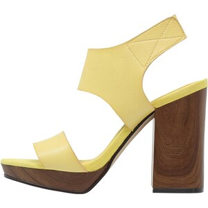 Even&Odd Plateausandalette yellow
