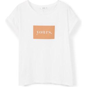 MANGO Bedrucktes Baumwoll-T-Shirt