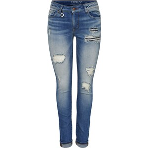ONLY Skinny Fit Jeans Coral low Destroyed