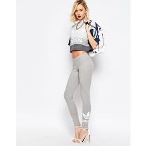 Adidas Originals - Adicolour - Leggings avec deux logos trèfle - Gris chiné moyen