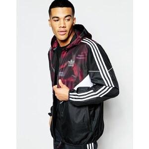 adidas Originals - Team - Klassische schwarze Windjacke, B48976 - Schwarz