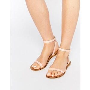 ASOS - FINLAY - Sandales plates en cuir - Rose