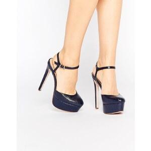 ASOS - PUCKER UP - Chaussures à plateforme - Bleu marine